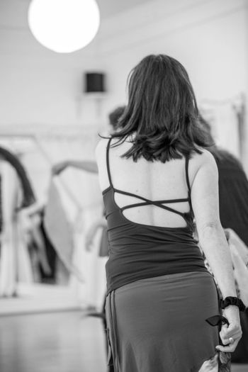 Nia Rear View Focus On Foreground Women Adult Real People One Person Fashion Indoors  Clothing Dress Lifestyles Hairstyle Hair Long Hair Standing Three Quarter Length Casual Clothing Beauty Incidental People Beautiful Woman