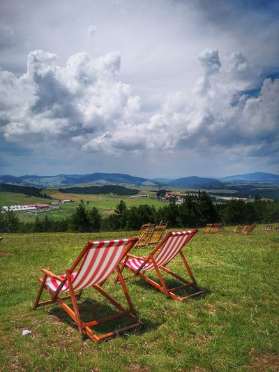 Relax Chilling Vacations Mountain Mountains And Sky Peaceful Happiness Summertime Summer Mountain Sky Grass Landscape Cloud - Sky Outdoor Chair Spring Break