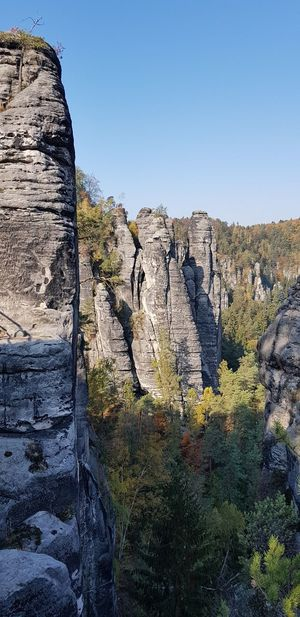 Stone Formation No People Outdoor Photography Tree Bastei Elbe Sandstone Mountains Sky