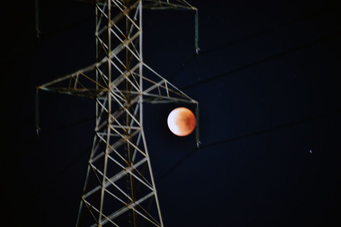 Super Moon Trilogy 1 Hayward, Ca. Eden Landing Ecological Reserve Marsh Super Moon Blood Moon Blue Moon Full Moon Lunar Eclipse Penumbra Umbra Astronomy Celestial Cosmic Peri Gee Syzygy Power Pylon Power Lines Luminance Moon