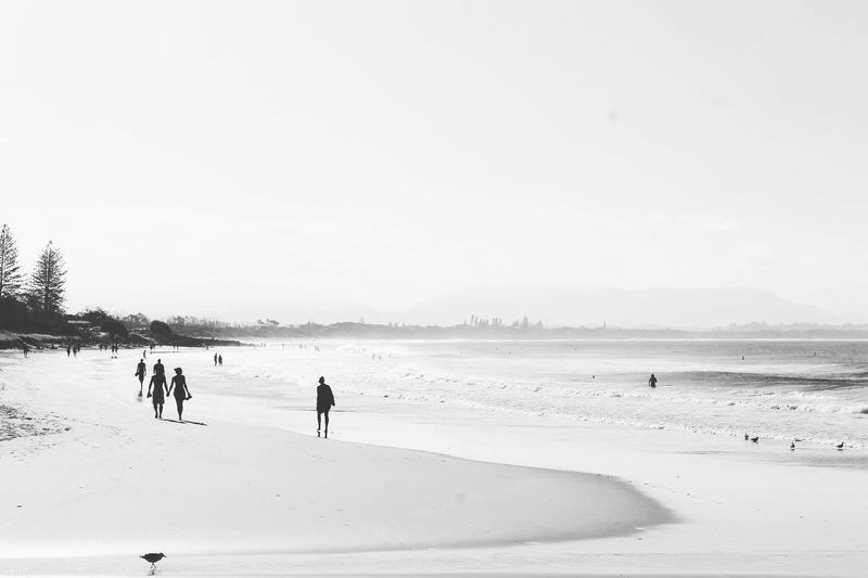 Byron Bay Black And White EyeEm Selects Beach Sand Sea Nature Sport Vacations Outdoors Real People Day Scenics Beauty In Nature Sky People Water