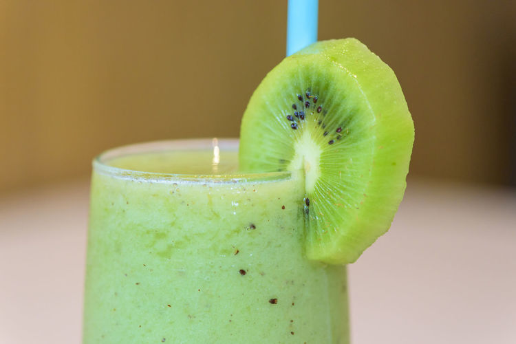 Close-up of smoothie