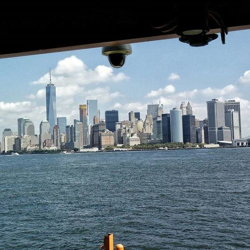 Manhattan Skyline. Skyline Manhattan Newyork NYC Ferry Statenisland Statenislandferry Building Amazing Whitefigure