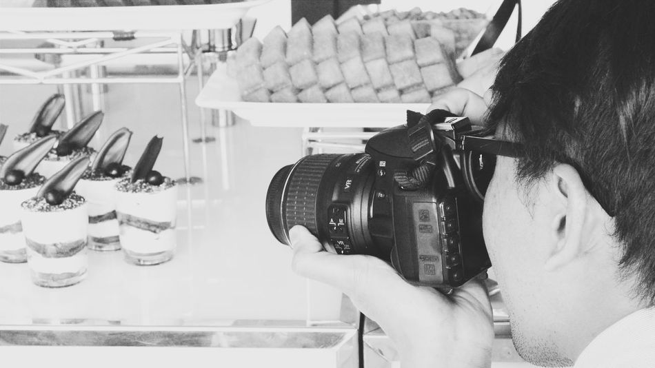 Black And White Camera Casual Clothing Close-up Cropped Focus On Foreground Food Photography Holding Leisure Activity Lifestyles Part Of Photography Shoot The Mix Up