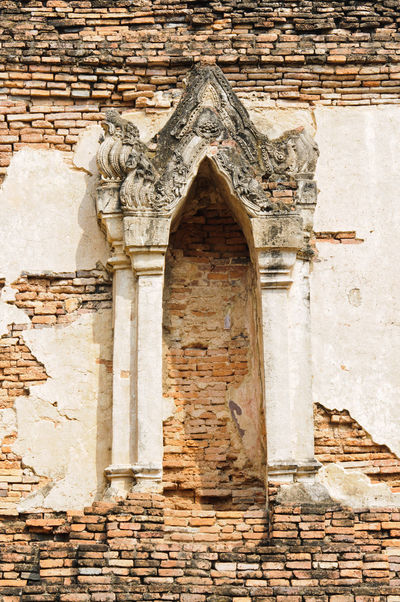 Architecture Brick Wall Building Exterior Built Structure Close-up Day History No People Outdoors Temple - Building Thai Thailand Wall Window
