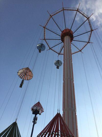 Playland Amusement Park Blue Sky