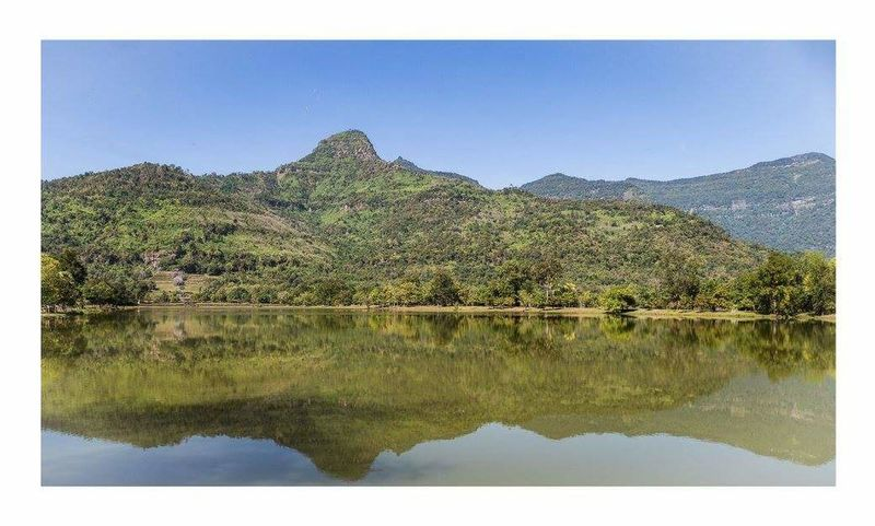 Champassak landscape Landscape Nature Reflection Mountain Tree Lake Tranquil Scene Scenics Water No People Outdoors Day Sky Laos Laos Temple Watphu