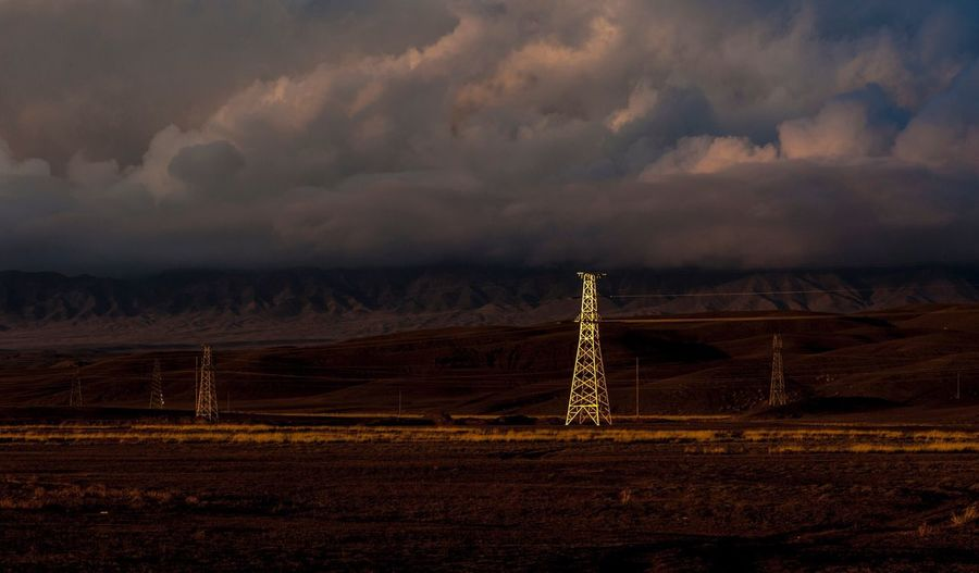 Sky Scenics No People Industry Technology Nature Landscape Outdoors Electricity Pylon Coal Mine Day