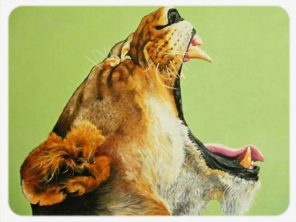 Check This Out Portrait Enjoying Life Awesome lioness oil painting