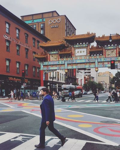 Adult Architecture Building Exterior Chinatown City Life Outdoors People Real People Road Sky Street