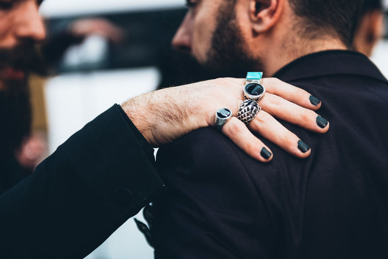 Accessories Beard Black Nails Black Suit Fashion Fashion Photography Fingers Italian Man Lifestyles Men Mensfashion Menstyle Menswear Rings