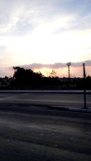 Sunset at El-Mehwar road. First Eyeem Photo