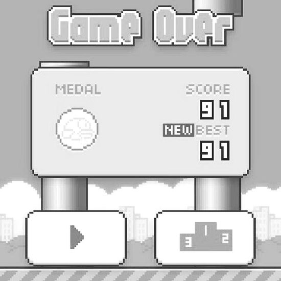 this game... Flappy Bird Game Haha :D