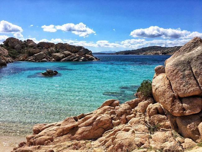 Sea Sky Blue Rock - Object Scenics Beach Water Tranquil Scene Nature Rock Formation Beauty In Nature Cloud - Sky Tranquility Idyllic Day Outdoors No People Horizon Over Water Colors Of Nature La Maddalena Cala Coticcio EyeEm The Best Shots EyeEm Best Shots - Landscape Eyeem Market EyeEm Masterclass