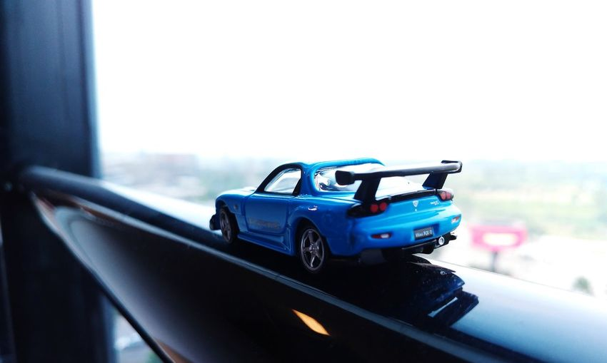 my collection P4lsoe Diecastcars Tomica Takaratomy Diecast Diecastphotography Mazda RX7 Mazda Show Off Racecar Car Sky