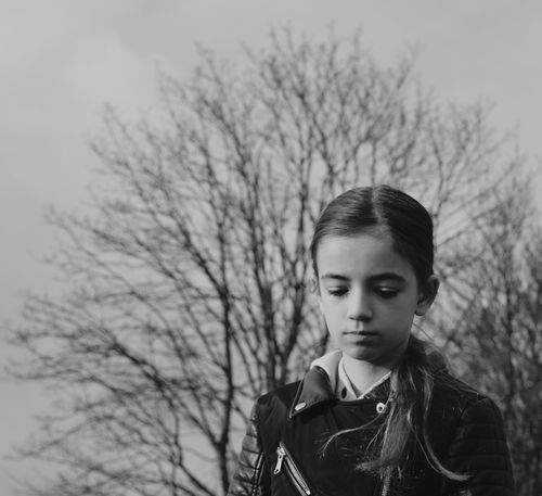 Girl Teenager Thinking in Nature Empty her HEAD Water Youth Blackandwhite Photography Black & White B&W Portrait B&W Collection Emotions Feelings Empty Places Lights And Shadows Faces In Places Showcase March The Portraitist - 2017 EyeEm Awards