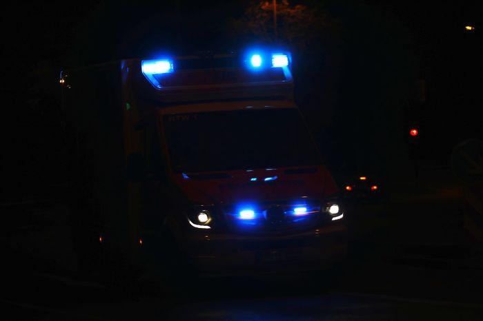 Ambulance Rettungswagen Rtw Alarmfahrt Blaulicht Bluelight Emergency Illuminated Car Land Vehicle Arts Culture And Entertainment Headlight Vehicle Light