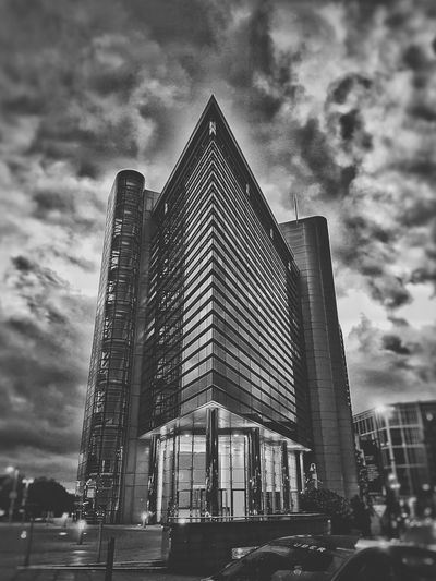 Leeds architecture Architecture Building Exterior Modern Cloud - Sky Outdoors City Blackandwhite Black & White B&w Low Angle View Built Structure Sky Skyscraper Travel Destinations Day No People First Eyeem Photo Art Is Everywhere Art Is Everywhere The Architect - 2017 EyeEm Awards