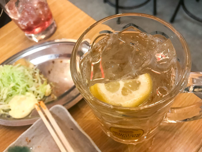 Alcohol Cheers Close-up Day Delicious Drink Drinking Glass Food And Drink Food And Drink Freshness Highball Ice Indoors  Izakaya Japanese Culture Lemon Lifestyles Refreshment Taste Good Whisky And Soda