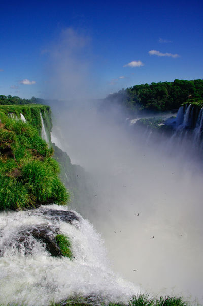 Iguazu Falls Argentina Beautiful Beauty Beauty In Nature Brazil Fall Falls Flowing Flowing Water Iguazu Falls Impressive Nature Pentax Power Power In Nature Sky Sky And Clouds South America Spectacular Water Water Reflections Water_collection Waterfall