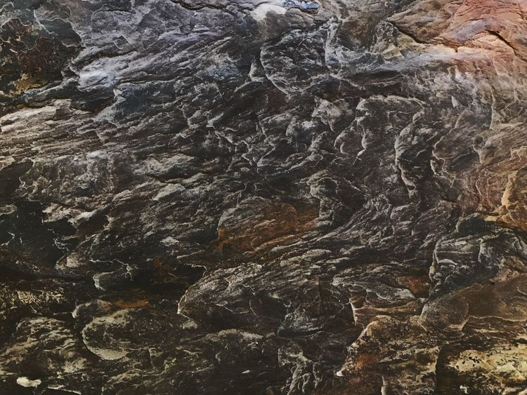 Slate rock with plenty of color. Backgrounds Full Frame Slate Textured  Rock Nature No People Day Beauty In Nature Close-up Outdoors Flowing Various Colors