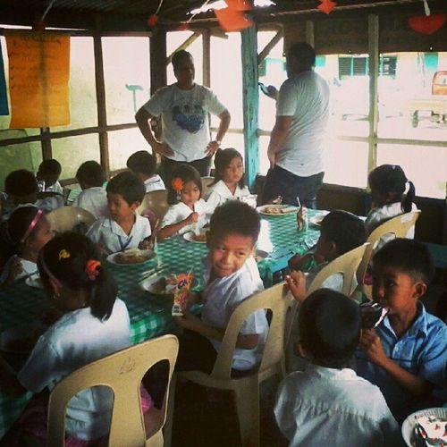 Nawala akong poise ug binuyag! Haha but these kids are fun to be with... Sncaktime SchoolHealthNursing