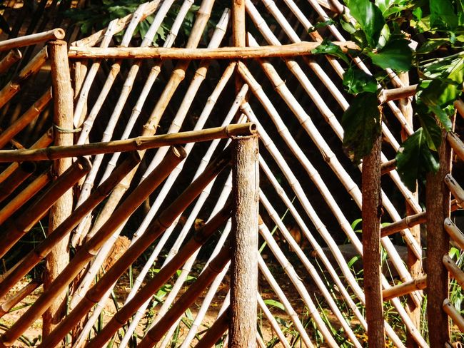 CONTRAST... WOODEN GATE Tree Wood - Material Close-up Bamboo Bamboo - Material Wooden Rod Wooden Raft