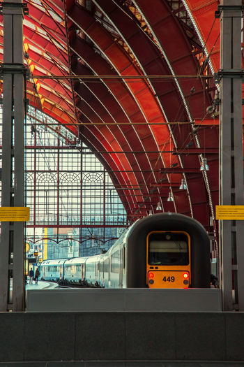 Train at antwerp central station