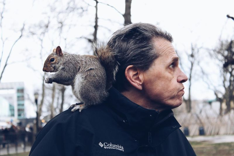 Love Without Boundaries Friends NYC NYC Photography People Squirrel Battery Park City Life Portrait Togetherness Perfect Match Friendship