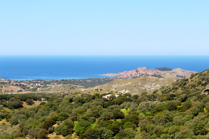 Beauty In Nature Coastline Day Elevated View Greece Hill Horizon Over Water Landscape Lesbos Lesvos Mediterranean  Molyvos Nature No People Non-urban Scene Outdoors Scenics Sea Seascape Tranquil Scene Tranquility Travel Travel Destinations Village Village Life