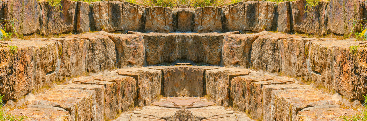 Old natural stone steps - wall of an ancient amphitheater Ancient Ancient Civilization Architecture Backgrounds Built Structure Close-up Day Full Frame History Nature No People Old Ruin Outdoors Pattern Rock Solid Stone Material The Past Travel Travel Destinations Wall