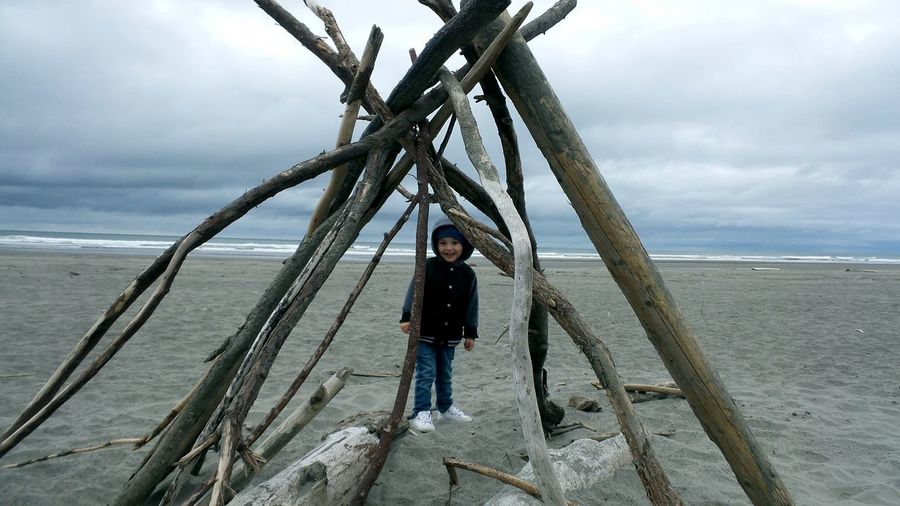 Beach Sea One Person Outdoors Cloud - Sky Sand People Nature Washington Long Beach Washington My Boy Child
