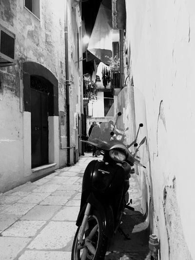 Motorbike Streetphotography Blackandwhite Vintage Old Town