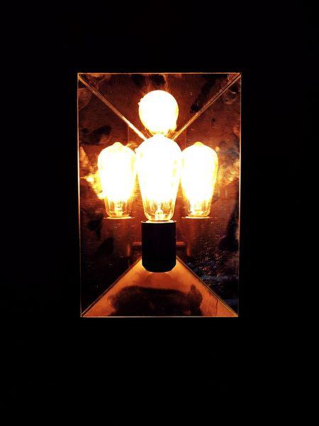 Reflecting on Edison Indoors  Illuminated No People Close-up Light Lightbulb Edison Bulb Reflection