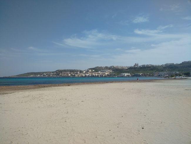 L-Ghadira Malta Mediterranean  Mediterranean Sea Beach Ghadira Nature Sand Scenics Sea Sky Water