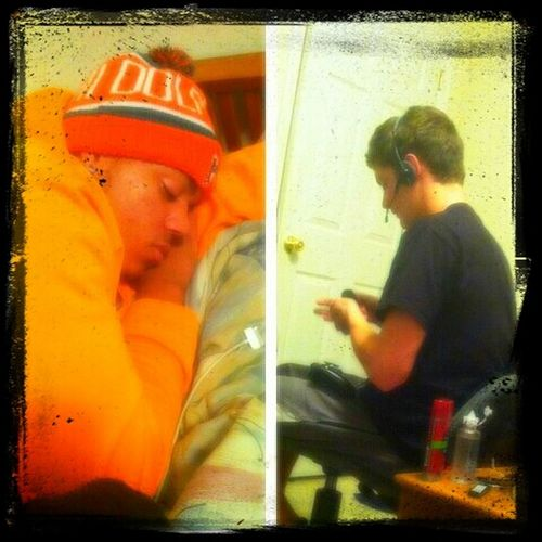 how we spend our Friday nights before partying #Sleeping #Xbox