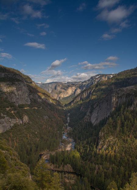 Beauty In Nature Cloud - Sky Landscape Mountain Mountain Range Nature Outdoors Scenics Tree Yosemite National Park