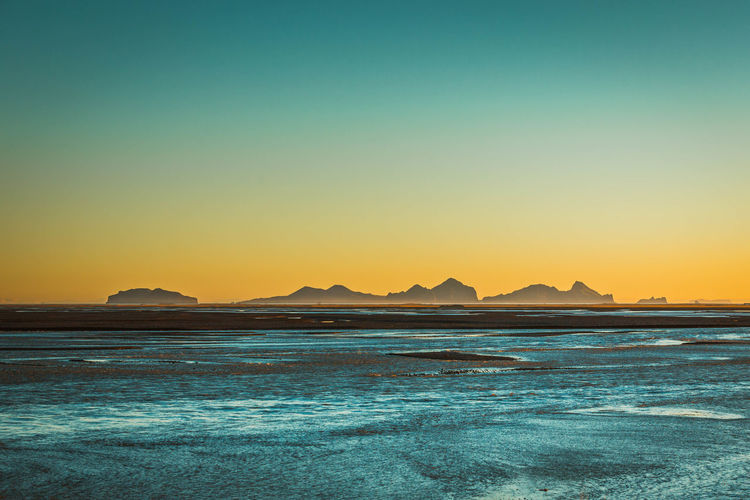 Beach Beauty In Nature Day Iceland Idyllic Landscape Nature No People Outdoors Scenics Sea Sky Sunset Tranquil Scene Tranquility Water