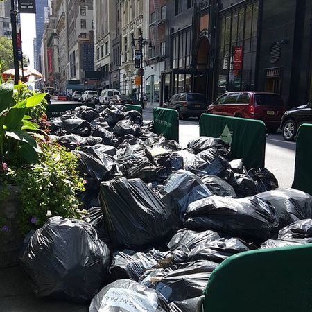 Trash day.NYC Nycstreet Realnyc Trash Streetcinema Colorofnewyork Battle Of The Cities New York City New York Street Photography
