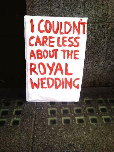 Red Day Outdoors Text Communication Close-up No People Royal Wedding Western Script RoyalWedding Royalweddings Street Sign Poster
