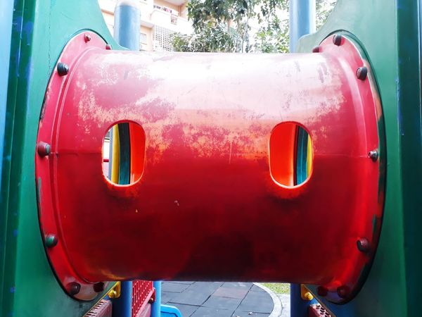 Playground equipment Playground Playground Equipment Play Playground Fun With The Kids Playground Structure Playground Slide Playground Abstraction Playgroundadventure Red Red Tunnel Tunnel View Tunnel With Window Tunnel With Opening Red Day No People Outdoors Close-up