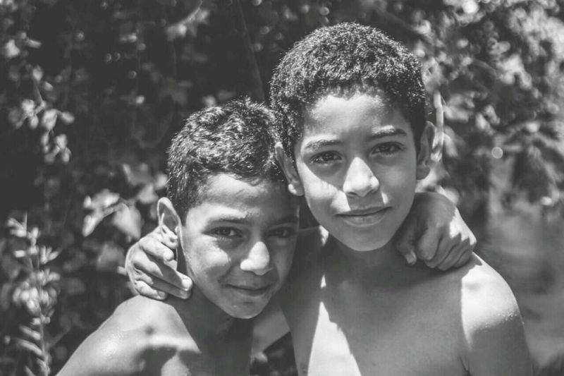 friends Boys Friends Portrait Love Child Togetherness Happiness Smiling People Boys Outdoors Fun Headshot