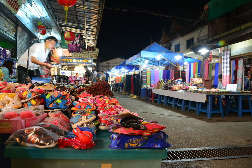 Abundance Arrangement Bazaar Chiang Rai, Thailand Choice City City Life Day Display For Sale Illuminated Large Group Of Objects Market Market Stall Multi Colored Night Night Bazaar No People Outdoors Retail  Small Business Store Variation