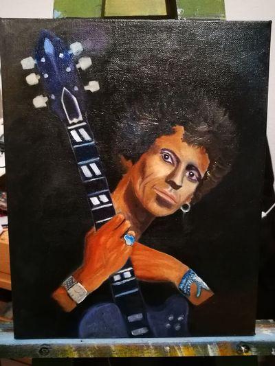 Keith Richards Ölmalerei Keilrahmen Kunst Musik Rolling Stones