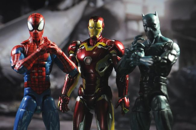 team ironman! Acbaglobal Articulated Comic Book Art Marvel ACBA Civilwar Marvel Comics Marvellegends Acbafam Spiderman