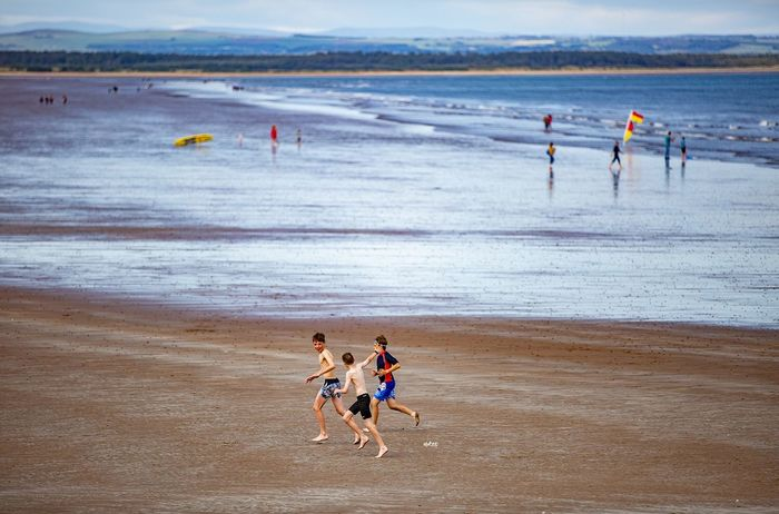 Chariots of Fire (where was filmed) Saint Andrews Travel Destinations Bestoftheday Photography EyeEm Best Shots Beach Land Water Sea Group Of People Real People Sport Nature Sand People Beauty In Nature Vacations