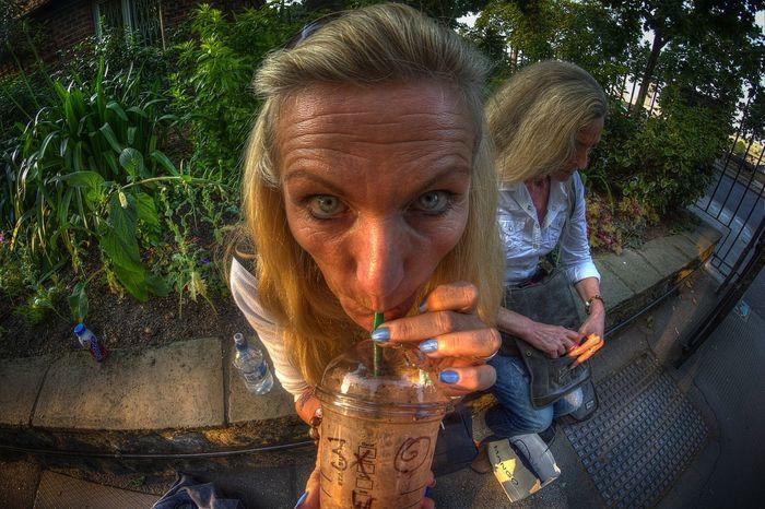 Fisheye Photography HDR Starbucks