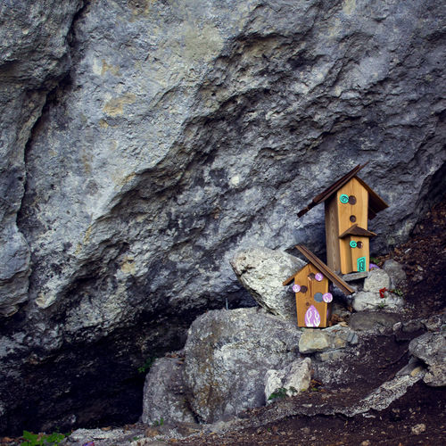 Fairyland. ©FILIPPI GIULIA PHOTOGRAPHY. All rights reserved. Architecture Colors Dreaming Fairy Fairytale  Tranquility Wildlife & Nature Wood Art Building Building Exterior Forest House Italy Light And Shadow Mountain Nature Outdoors Photographer Photography Photooftheday Stone Surrealism Wildlife Wood - Material
