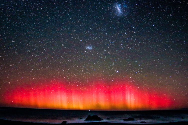 Star - Space Night Astronomy Beauty In Nature Scenics Nature Outdoors Galaxy No People Constellation Sky Space Rare Aurora Night Sky Stars Starry Sky Nightphotography Aurora Australis Seaside Seascape Sea And Sky Galaxy Water Tranquility