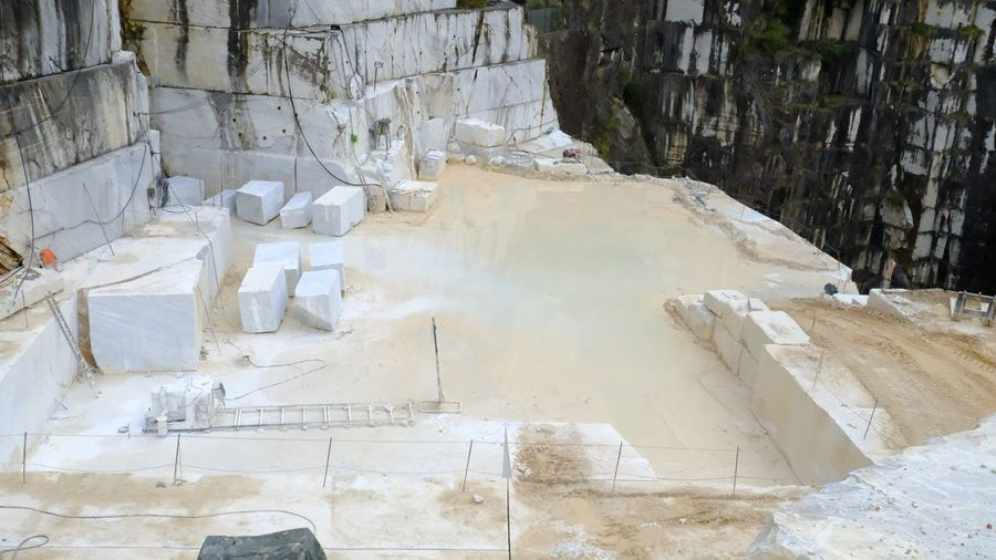 Carrara Quarry High Angle View Outdoors Marble Marbledstone Nature Day No People